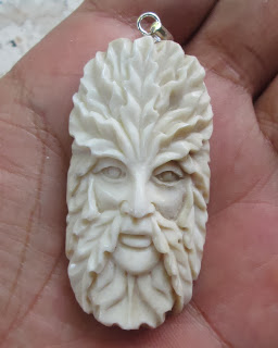 Green Man Antler Pendants 004