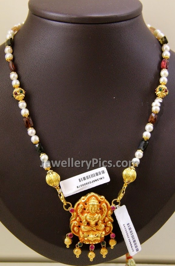 precious beads chain with temple pendent