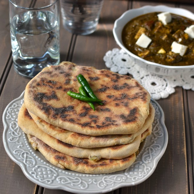 Amritsari Aloo Kulcha (Potato Stuffed Indian Bread)