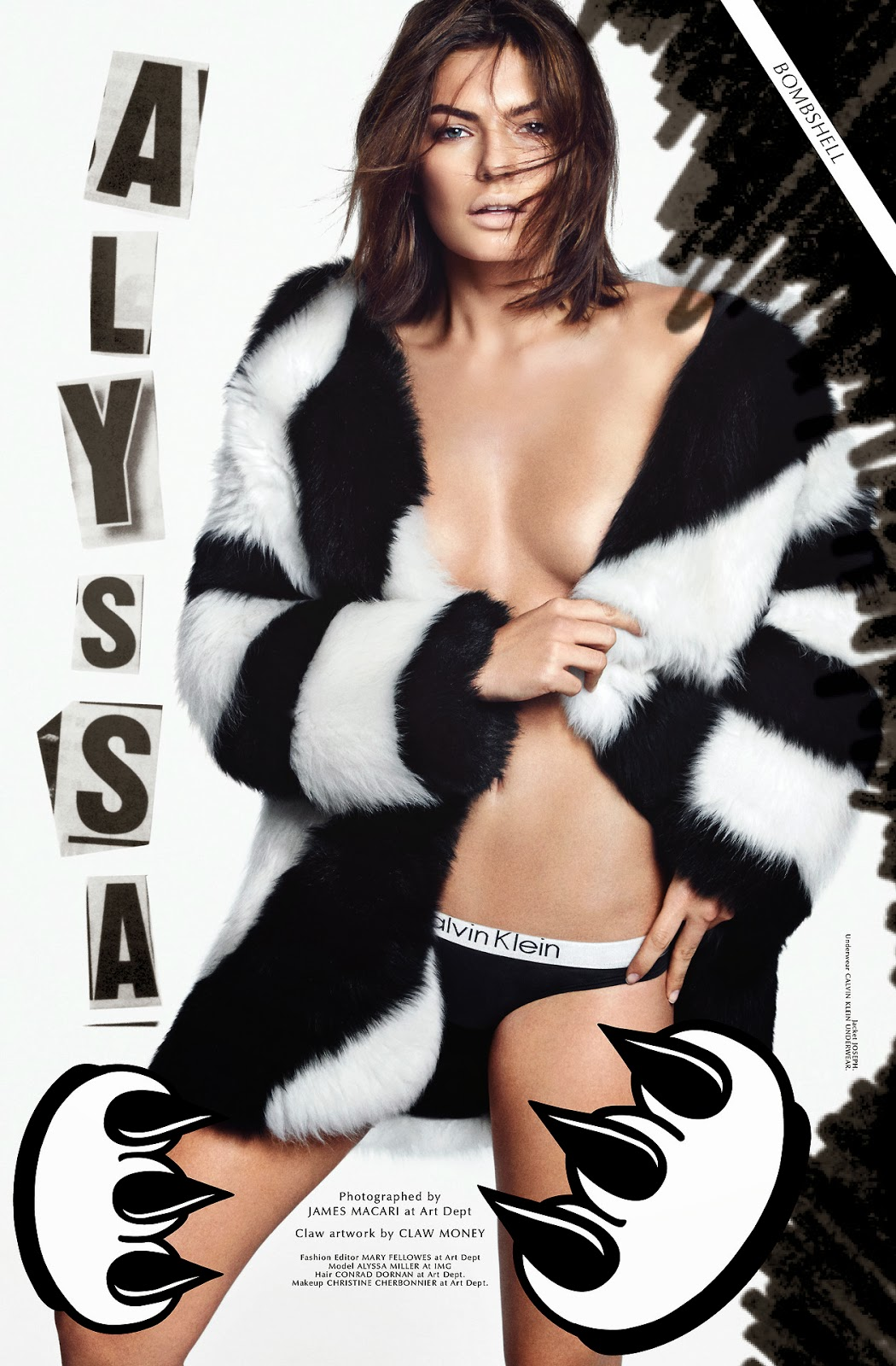 Magazine Photoshoot: Alyssa Miller Magazine Photoshoot by James Macari for Galore Magazine 2014