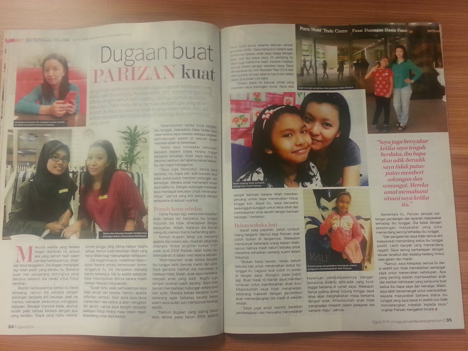 Featured In Mingguan Wanita August 2014
