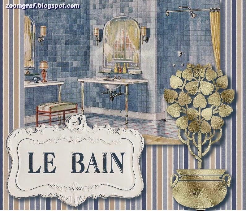 Laminas Baño Vintage:laminas,decoupage,vintage,retro,baño,le bain,recursosscrap