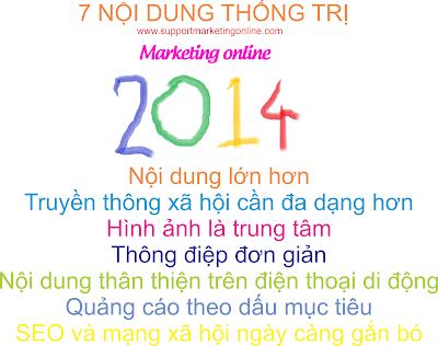 7 xu hướng tiếp thị trực tuyến thống trị năm 2014