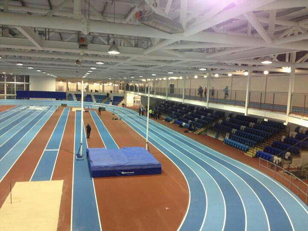New indoor track in Athlone now finished...