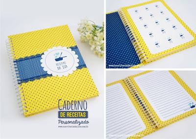 caderno receitas personalizado