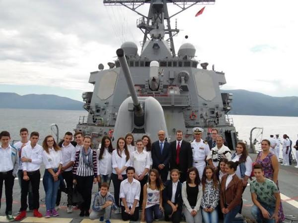 "US Military Ship ""USS Porter, DDG 78"" visit to Vlora"