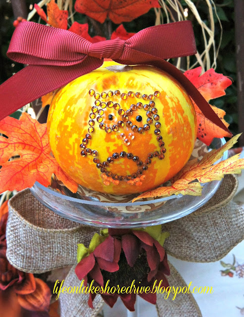 decorate pumpkins for fall with owl applique