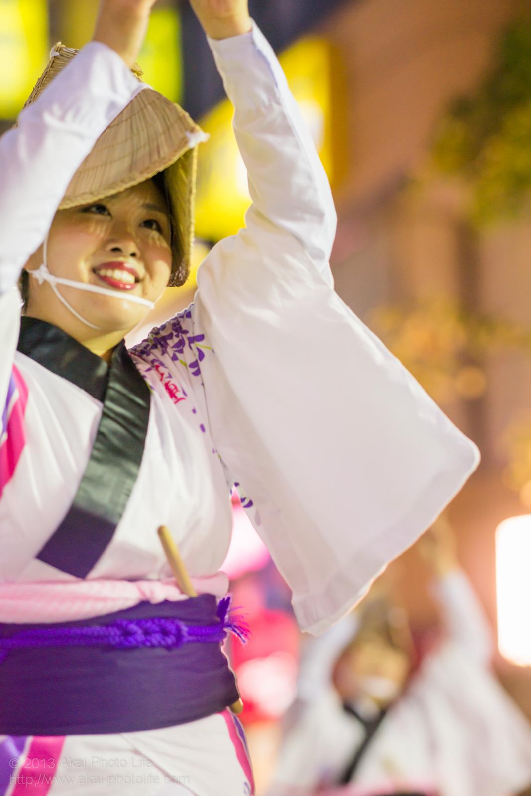 三鷹阿波踊り、りずむ連の女踊り