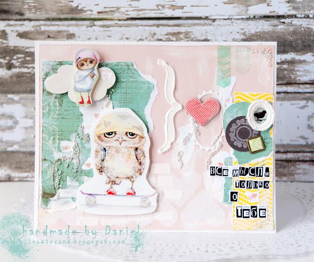 открытка с совами + Инга Пальцер + купить в Минске