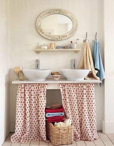 banheiro cortina pia