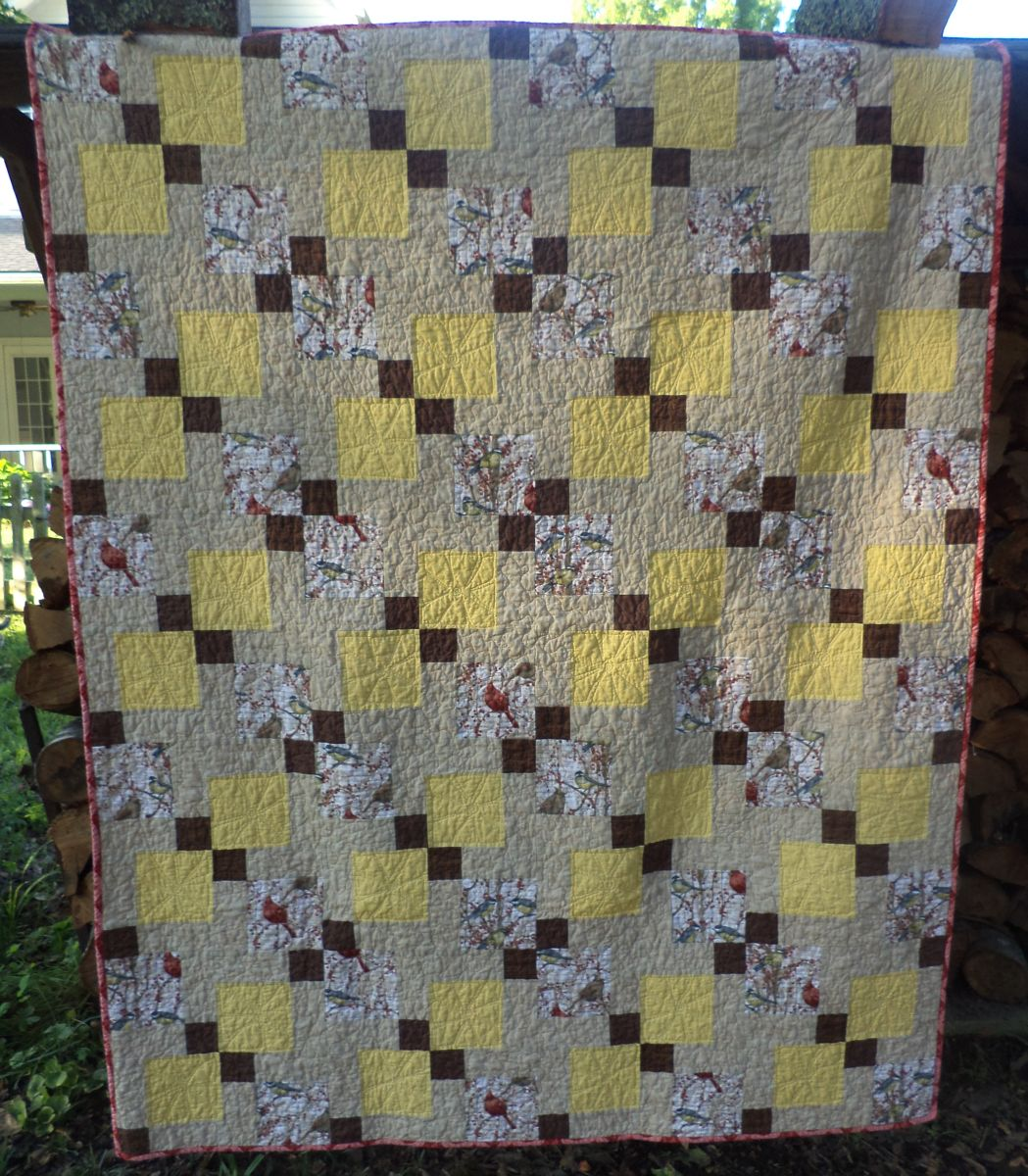 Nine patch and hourglass quilt tutorial