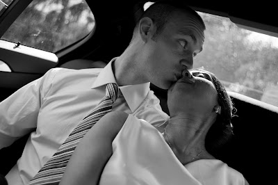 Cute Wedding Couple In Cars - Amazing Wedding Photography