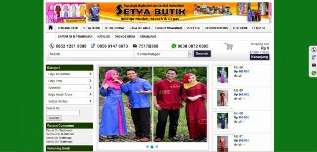 Setyaonline.com Toko Herbal dan Fashion Terpercaya