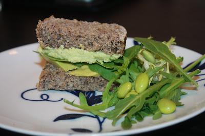 vegan edamame hummus sandwich