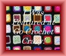 I was featured at Go Crochet Crazy