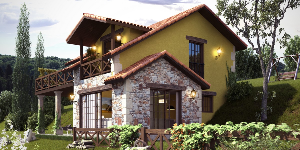 Grupo mera casas r sticas opiniones mera construcci n - Casas en pendiente ...