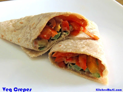 veg crepes recipe
