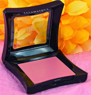 Blusher - cream blush - warm candy pink - illamasqua - dewy finish - longlasting blusher - pink blusher- swatch - review