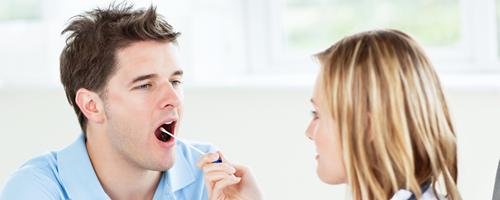 saliva test procedure