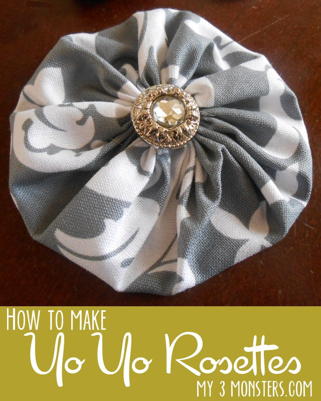 Fabric Yo Yo Rosette Tutorial