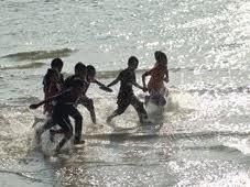 Pantai yang bersih :