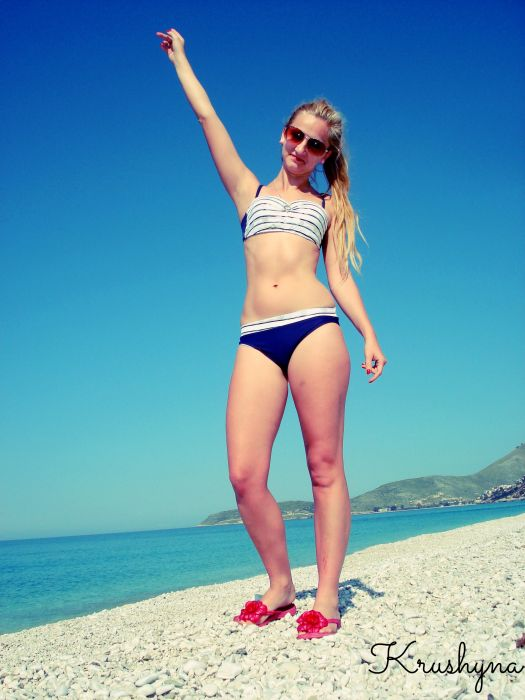 dzika plaża, Albania, strój kąpielowy, Primo