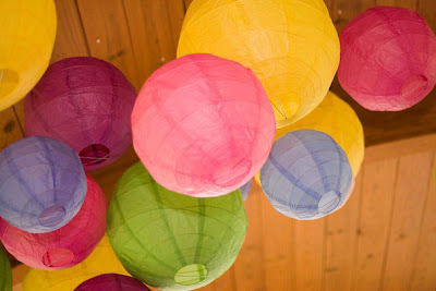 Bright Multicolor Paper Lanterns for Outdoor Birthday Party Celebration