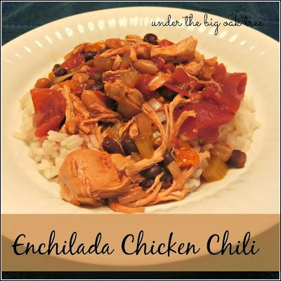 http://www.underthebigoaktree.com/2014/01/crock-pot-enchilada-chicken-chili.html