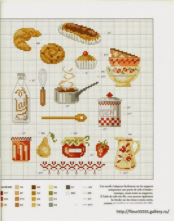 Hobby lavori femminili ricamo uncinetto maglia - Point de croix cuisine ...