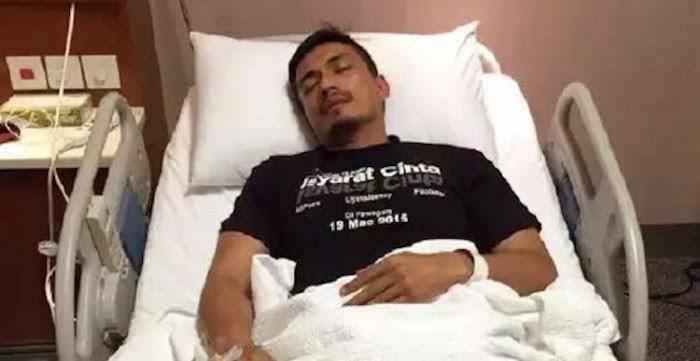 Adi Putra Dikejarkan ke Hospital Ketika Promosi Filem Isyarat Cinta