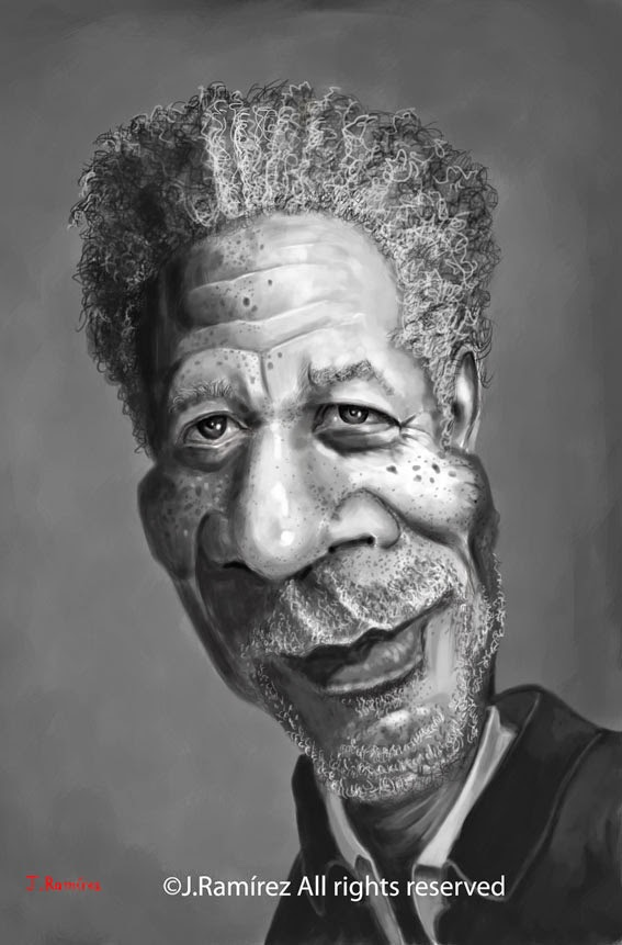 Morgan Freeman illustration
