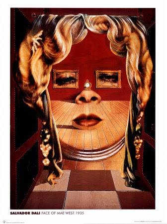 """""""Retrato de Mae West que puede utilizarse como apartamento surrealista""""."""