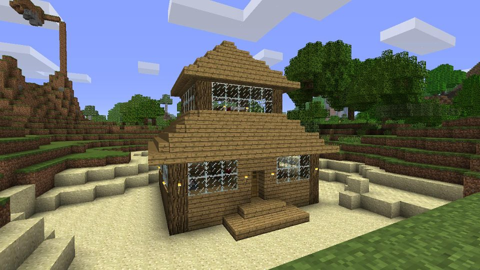 Minecraft Small House Ideas : Small Minecraft House Cake Ideas and Designs