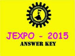 WB JEXPO 2015 Answer Key