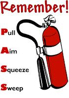 PASS ketika menggunakan tabung pemadam api