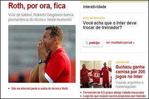 Celso Roth consegue fazer o Inter perder na Libertadores.