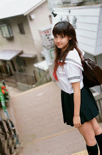 seragam sekolah jepang wanita gadis cantik