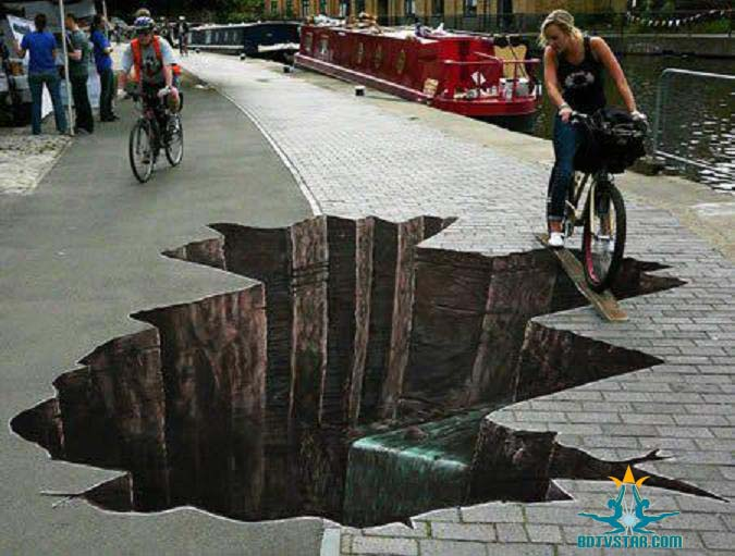 Amazing 3D road Art picture 1