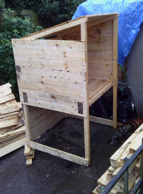 cosy designs for chicken houses. It rained a fair bit  The Shed And Beyond Chicken coop from pile of pallets