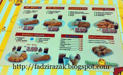 Harga lama Uncle Jack Fried Chicken