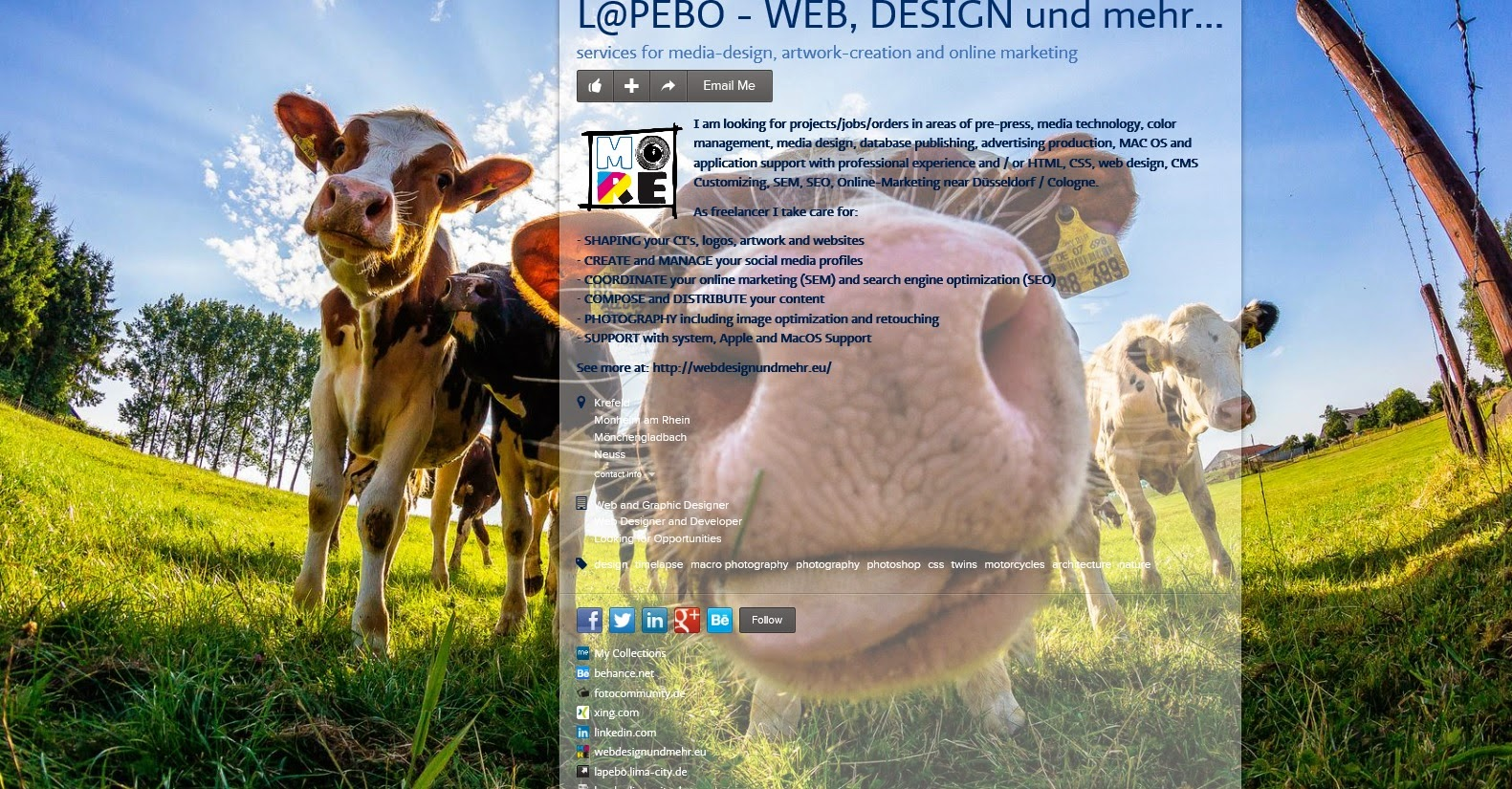 An image of L@PEBO's (Lars-Peter Boehme's), Website Designer about.me page