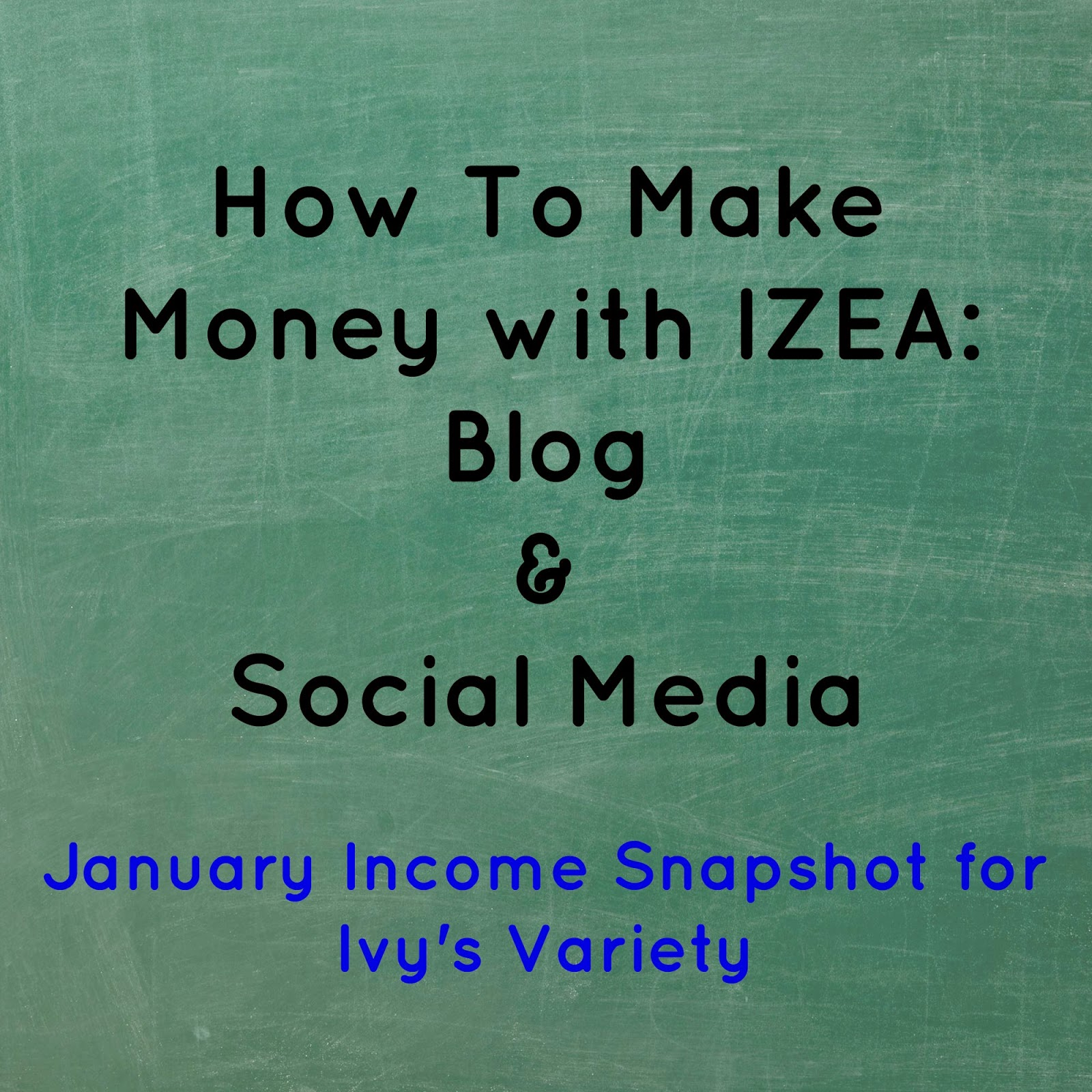 January IZEA income from twitter #ivysvariety