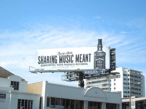 sharing music jack daniels billboard ad