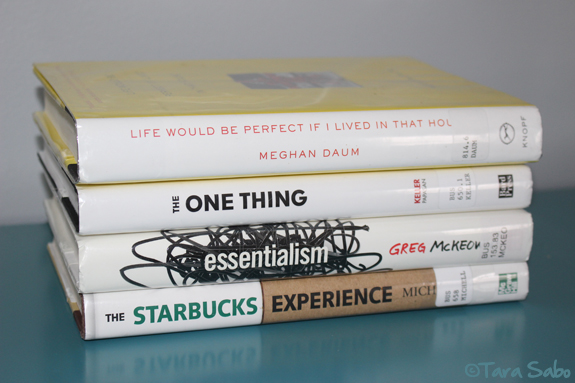 reading, read, meghan daum, the one thing, essentialism, starbucks experience
