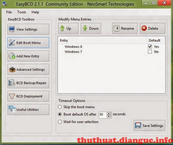 Download EasyBCD 2.2 – Phần mềm chính sửa menu boot dễ dàng và chuyên nghiệp