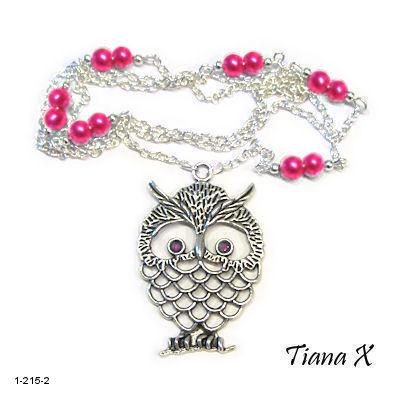 Tiana X - Kaulakoru, pöllö, Huuhkaja, pinkki