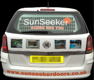 SunSeeker Doors liveried vehicle