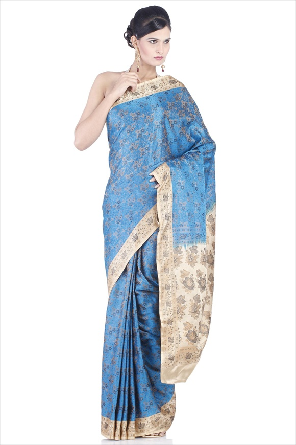 Blue Moon Satin Banarasi Saree
