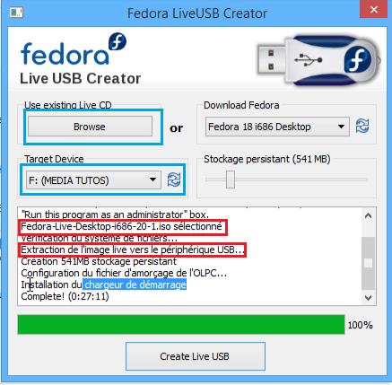 Using the Fedora USB Creator from Windows