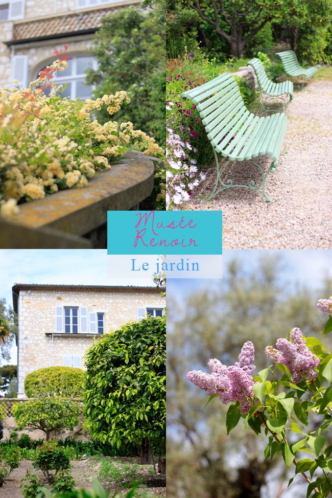 musée Renoir Cagnes sur Mer il giardino